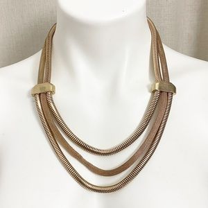 Necklace Rope Tiered Gold Plated Fashion Jewelry